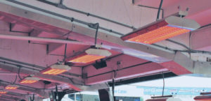 Marley Infrared Heaters in action at New Era Field